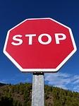 practicas de conducir en señales de stop